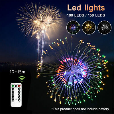 Hanging Firework Starburst Twinkle 120LED Battery Operated Dimmable String Light