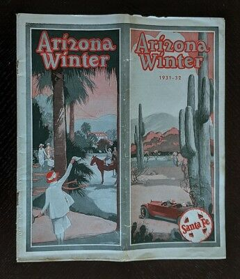 Santa Fe Railway 1931 Winter Travel in Arizona -Only 15M -AT&SF -EXC