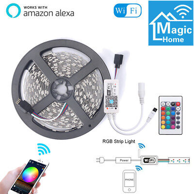 5m Flexible Smart WiFi RGB LED Strip Light for Alexa Amazon Google Home LD1559