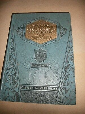 1931 Milvay Physical Instruments Apparatus Science Supplies Catalog Tools