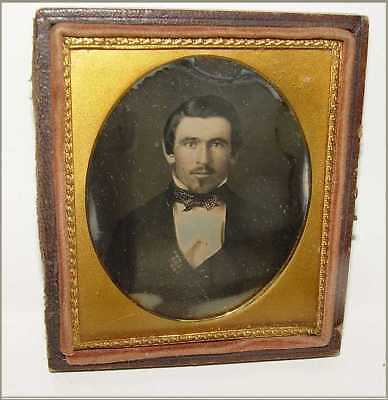 Daguerreotype Photo 6th Plate Horace Dunning Smith Mustache w Soul Patch on Chin