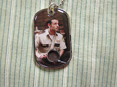 2018 The Walking Dead Memorable Moments Andrew Lincoln As Rick Dog -Tag Relic