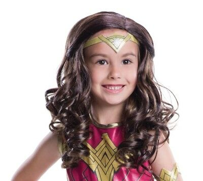 Wonder Woman Bambino Parrucca Accessorio Costume Nuovo Batman V.Superman 9f5d166ebc12
