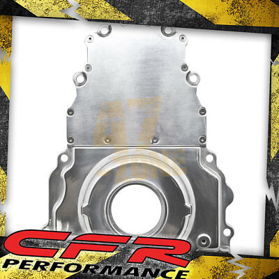 POLISHED ALUMINUM 2 Piece LS Engine Timing Chain Cover Chevy