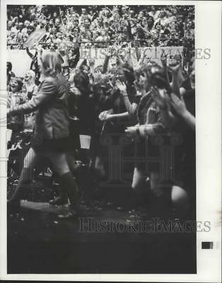 1977 Press Photo Huge Crowd Cheers at High School Tournament, Ritzville-Vaselle
