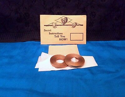 Sherm's Ring O Stick Nm Brass Washer Shell Utility Coin Magic Rare Collectible