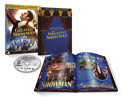 The Greatest Showman Limited Edition Book & Blu-ray UK Region 2 Stock 2018