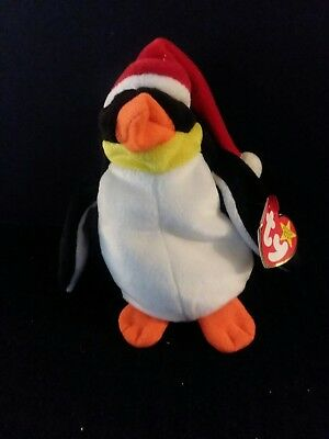 Ty Beanie Babies Zero the Penguin (1998) P.E. Pellets
