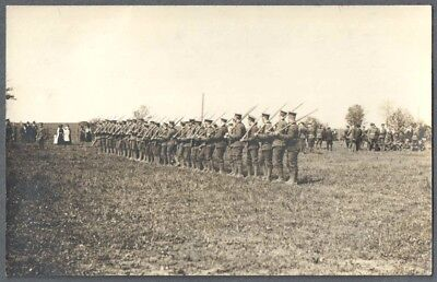 Vintage Photo Postcard RPPC - WW1 Canadian Military Soliders in Field Toronto