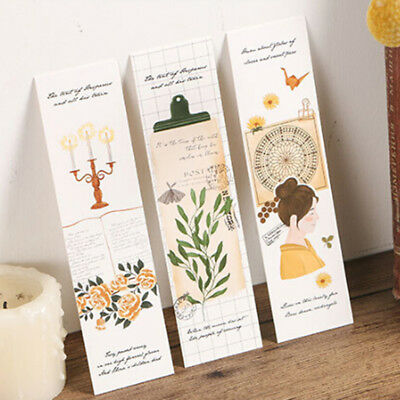 30Pcs/lot Paper Bookmark Happy Little Things Book Marks For Kid Supplies B