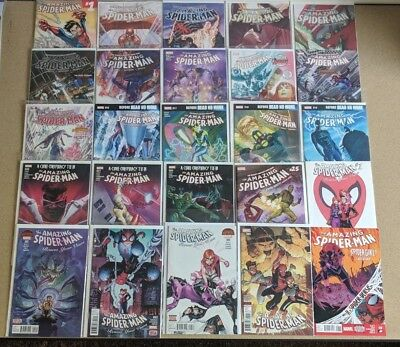 Amazing Spider Man Comics Huge Lot 25 Comic Book Collection Set Run Books Box 1