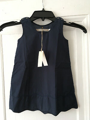 NWT vintage Flora and Henri boutique 2Y girls navy 100% cotton PERFECT sundress