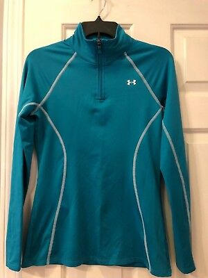 Women's Under Armour Cold Gear Mock Neck 1/4 Zip Pullover Athletic Jacket, SMALL