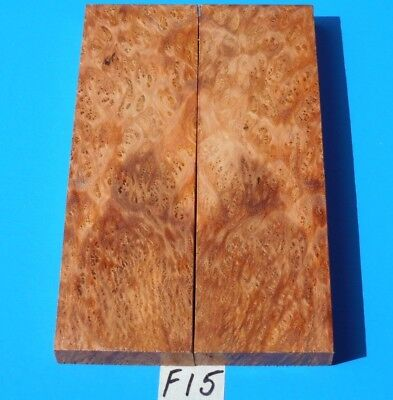 1 Pair Fancy Satinwood Burl Knife Scales~Knife Blank Grips~Exotic Wood Lumber