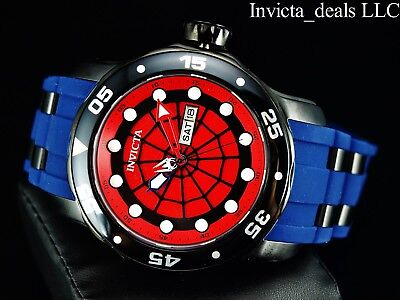 Invicta Men's Marvel 48mm Pro Dive Scuba Limited Ed SPIDERMAN Red Dial SS Watch