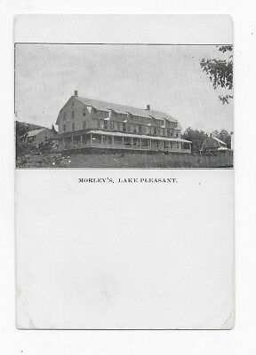1905 LAKE PLEASANT NEW YORK Morley's Great Early View Post Card #1312