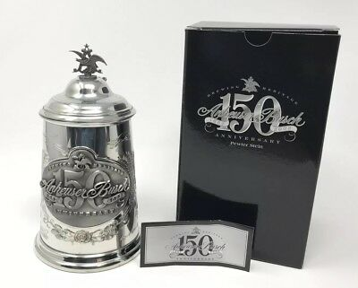 Anheuser Busch 150th Anniversary Vintage Pewter Beer Stein Brand New #102 Of 7K