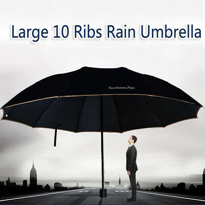 Three-foldings Umbrella Windproof Wind Resistant Compact W/10 Fiberglass