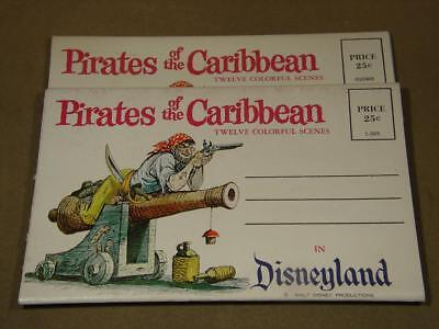 1960's Disneyland Pirates Of The Caribbean Folder Booklet - 12 Images Lot Of 2