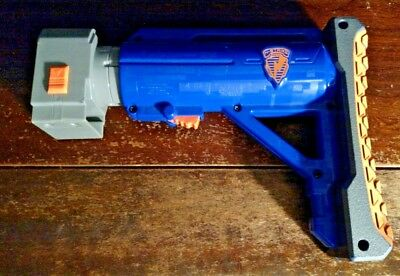 Blue Nerf N Strike Raider CS-35 Adjustable Extendable Shoulder Stock Toy Gun