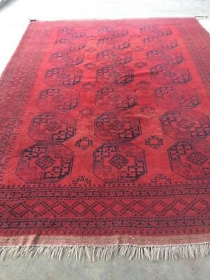 antico-swiss Beautiful Antique ERSARI rug 8`x 11`3 ft