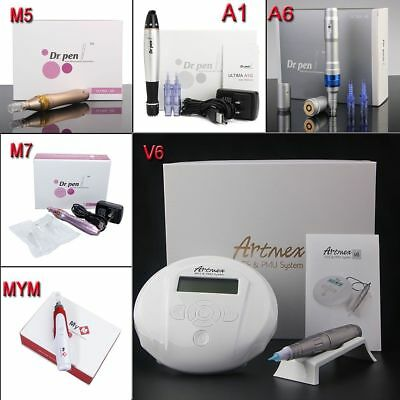 A1/A6 M5/M7 Dr.Pen Derma Pen Auto Micro needle Artmex Tattoo Machine V3 V6 12pin