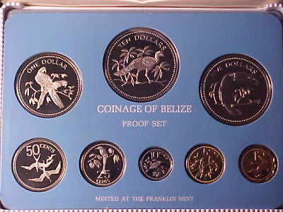 Belize 8-Coin Proof Set 1975 Nice Coins Gem In Case Clean Packaging