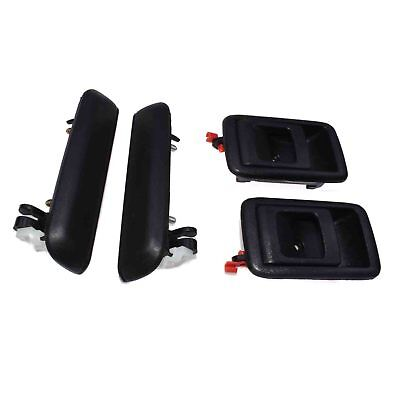 Exterior &Interior Door Handle Front Left & Right For Toyota Tercel Tacoma 4Pcs