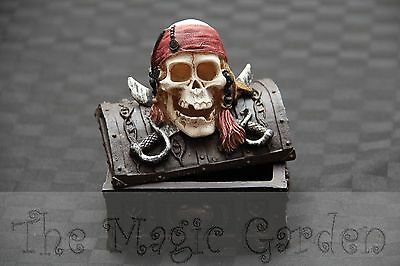 Pirate skull treasure chest trinket box craft plaster latex molds moulds