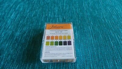 Johnsons Universal Test Papers pH1-14 acid alkali indicator strips  pack of 200