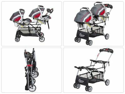 Twin Stroller Double Baby Brothers Trend Universal Frame Infant Car Seats -1