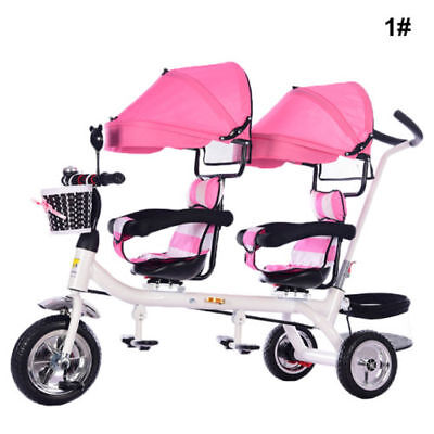 Twins Baby Stroller Tricycle Portable Carriage Double trave pushchairsl -2