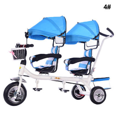 Twins Baby Stroller Tricycle Portable Carriage Double trave pushchairsl -8
