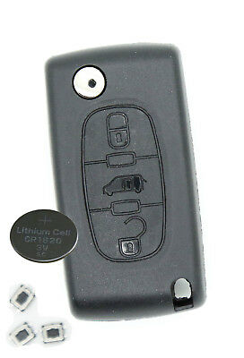Fits Peugeot Expert 3 Button KEY FOB REMOTE CASE Repair Fix Kit HU83 key blade