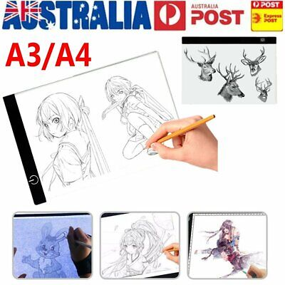 A3/A4 LED Light Box Tracing Drawing Board Art Design Pad Copy Lightbox Day&Light
