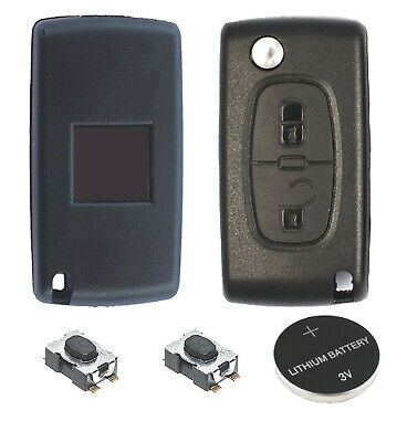 01A Fits Peugeot 307 2 Button KEY FOB REMOTE CASE Repair Fix Kit VA2 blade 0536
