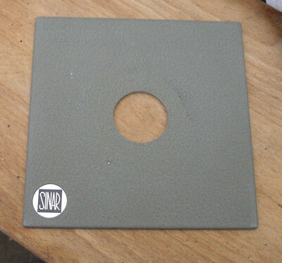genuine Sinar Norma  F & P  lens board panel with copal compur 0  hole  34.6mm