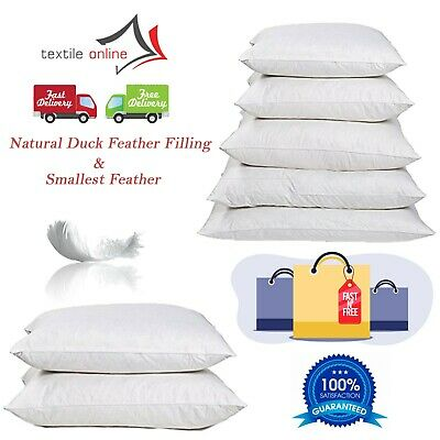 Duck Feather & Down Filled Cushion Inner, Inserts, Fillers, Pads In All Sizes