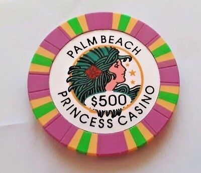 Palm Beach $500 Princess Casino Chip