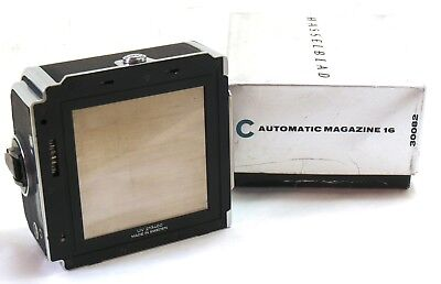 Hasselblad A16 film back magazine chrome matching insert 30082 boxed EXC++