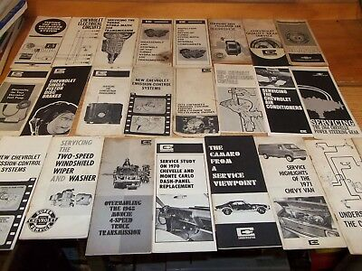Chevrolet  Repair - Tuneup - Shop Manuals lot of 24, 1959 to 1970's