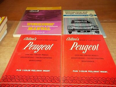 Simca - Peugeot  Repair - Tuneup - Shop Manuals lot of 4, Peugeot, are the same