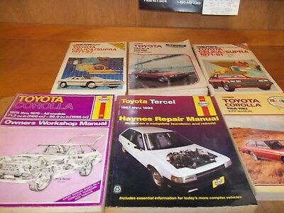Toyota  Repair - Tuneup - Shop Manuals lot of 6 (B)
