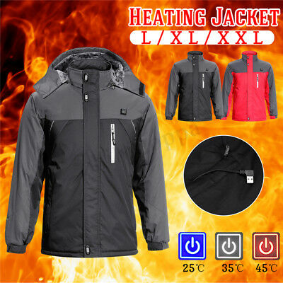 Male/Female Electric USB Heating Jacket Warm up Vest Winter Outdoor Heated Coat