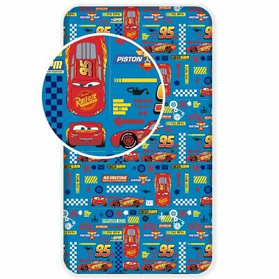 Disney Cars Single Fitted Sheet Cotton Kids Boys Bedding