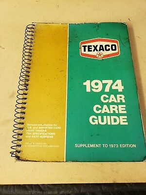 Vintage Texaco 1974 Car Care Guide
