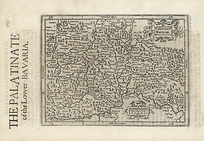 "1635 small Mercator map ""The Palatinate of the Lower Bavaria"""