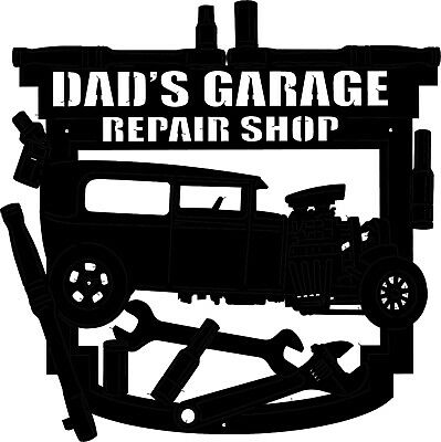 Dad's Garage ~ Americana Themed Metal Art