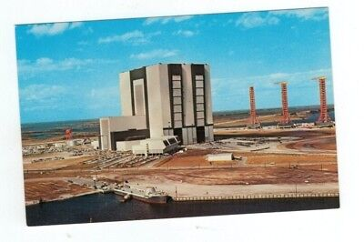 Standard Size NASA Chrome Post Card JFK Space Center Vehicle Assembly Building