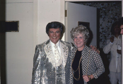 Liberace Candid Vintage Press Paparazzi Photo Original Slide 35mm 1977